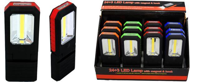 3W Super svítivá COB chip + 3 Led svítilna