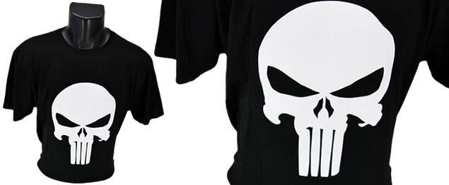 Vtipné tričko bílá lebka
