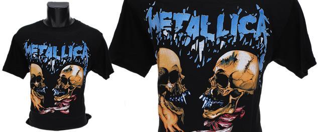Tričko Metallica, modrý nápis