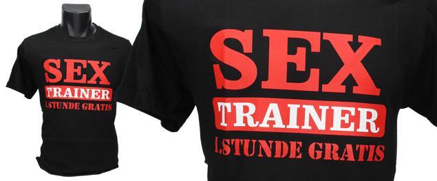 Tričko Sex Trainer, první lekce zdarma