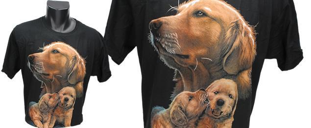 Tričko hnědí psi