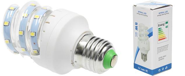 Úsporná žárovka 5W Spiral Led