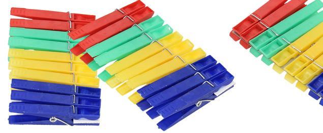 Kolíčky na prádlo 20 ks plast