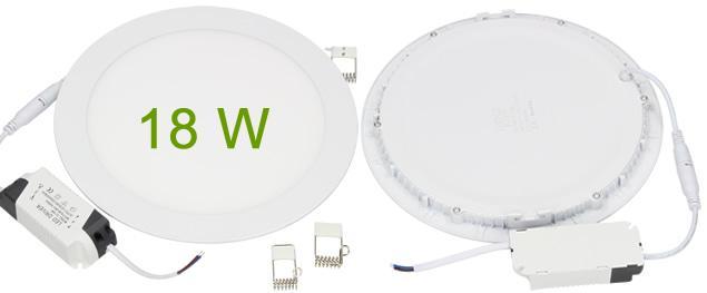 LED stropní panel zápustný 18W kulatý