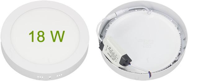 LED stropní panel 18W nezápustný kulatý