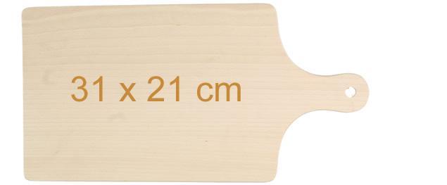 Krájecí prkénko dřevěné 31cm x 21cm s držadlem