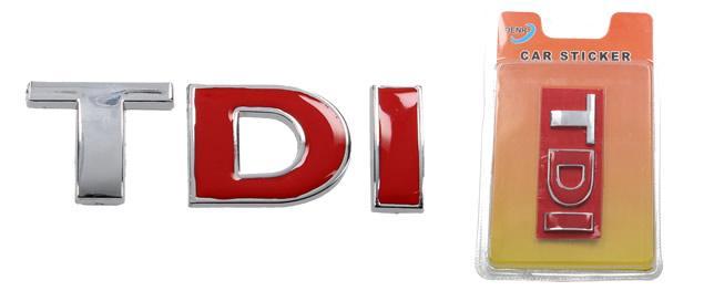 Kovová samolepka TDI 8,5cm x 3,5cm