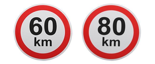 Samolepka na auto omezení rychlosti