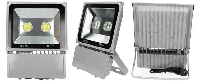 LED výkonný reflektor 100W plochý