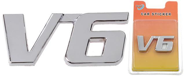 Kovová samolepka V6 2,5cm x 5,5cm