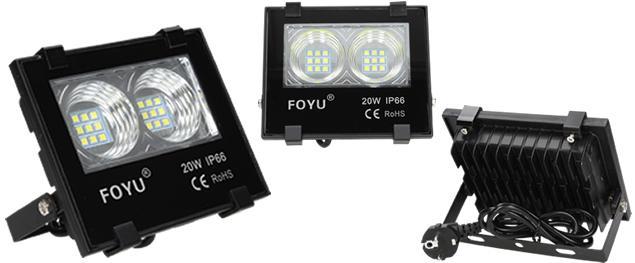 LED super výkonný reflektor FOYU 20W plochý
