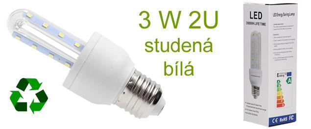 Žárovka LED SMD čip 2835 - 3W 2U