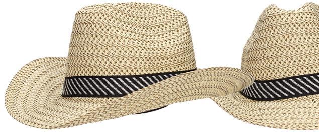 Slaměný kovbojský klobouk velký světlý