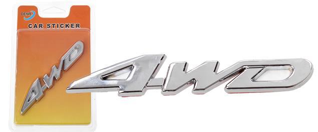 Kovová samolepka 4WD