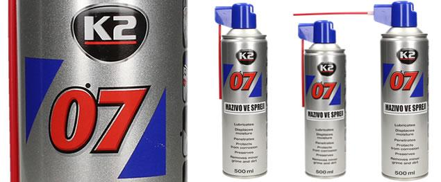 K2 07 500 ml - mazivo ve spreji