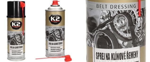 K2 sprej na klínové řemeny 400 ml