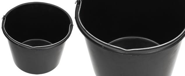 Kýbl plastový 12 L černý