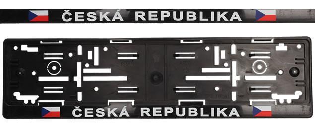 Tabulka pod SPZ ČR vlajky