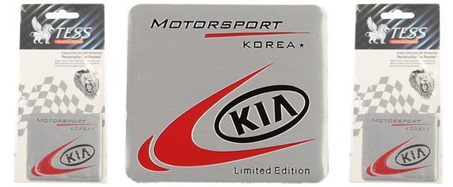 Kovová samolepka KIA Korea MOTORSPORT