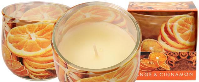 Vonná svíčka pomeranč a skořice