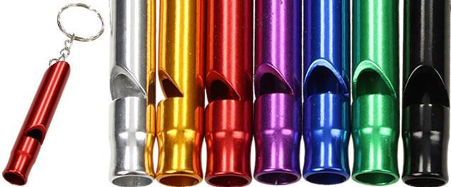 Klíčenka píšťalka kovová barevná