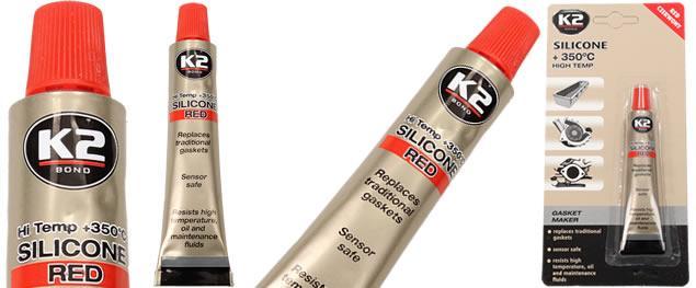 K2 SILICON red - silikon pro utěsnění části motoru 21 g