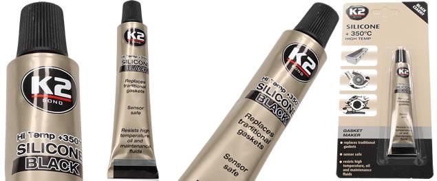 K2 SILICON black - silikon pro utěsnění části motoru 21 g