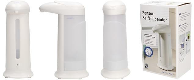 Bezdotykový dávkovač mýdla bílý