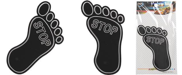 Samolepka černá ťápota STOP