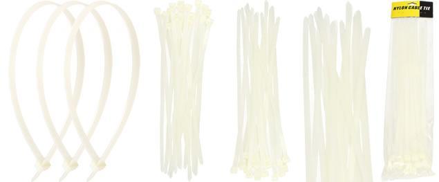 Stahovací pásky bílé 5 x 400 mm 20 kusů