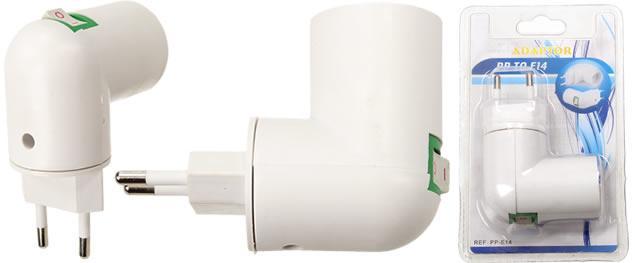 Objímka na žárovku do zásuvky E14