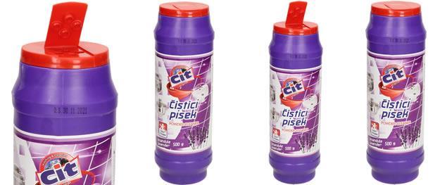CIT čistící práškový písek na nádobí 500 g Levandule