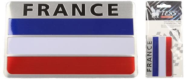 Kovová samolepka France 8cm x 5cm