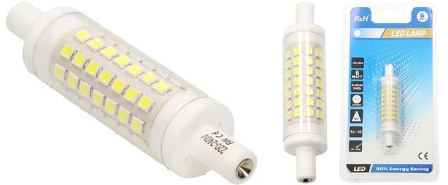 RH LED 6 W náhrada halogenové trubice 7,6 cm