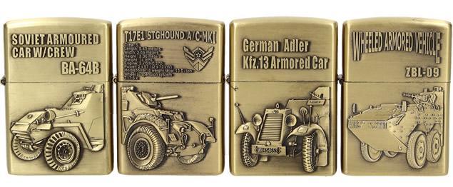 Zapalovače 4 ks - Válečné vozy