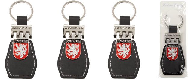 Klíčenka Praha s koženkou a znakem Lva ČR