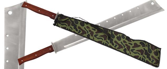 Ocelová mačeta 77 cm se seřízlou špičkou