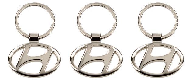 Klíčenka Hyundai chrom