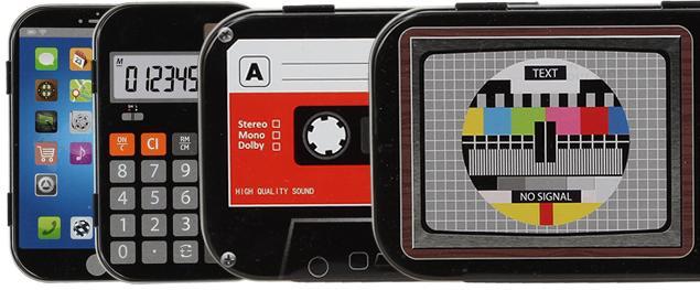 Retro kovová krabička s motivy 10x6x2 cm