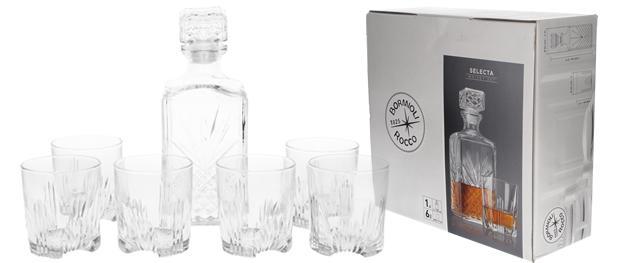 Selecta skleněná sada na Whisky 7 kusů