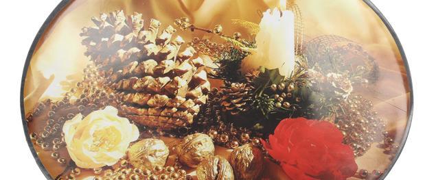 Oválné prostírání Vánoční věnec a šiška