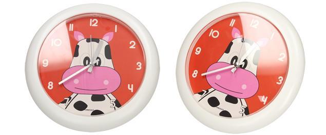 Nástěnné hodiny FLORINA FUNNY kráva ručičkové