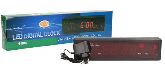 Digitální hodiny 4v1 s LED displejem JH-808
