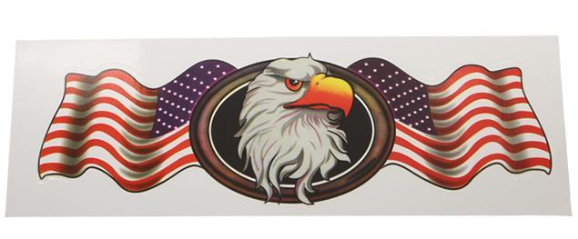 Samolepka USA orlice 2ks  30x10cm průhledná