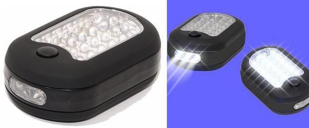 Svítilna 24 + 3 LED ovál