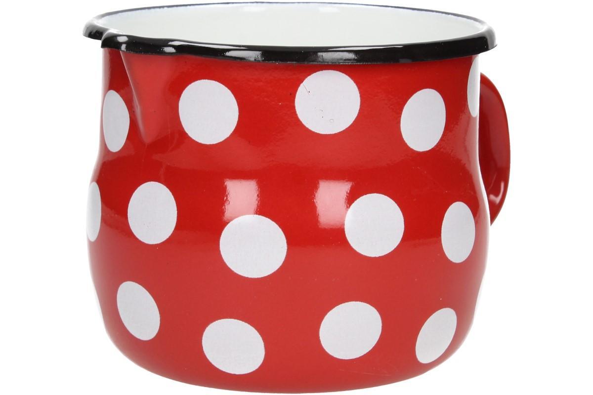 Foto 16 - Hrnek smalt červený puntík BELLY 12 CM