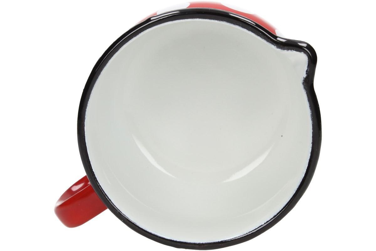 Foto 17 - Hrnek smalt červený puntík BELLY 12 CM