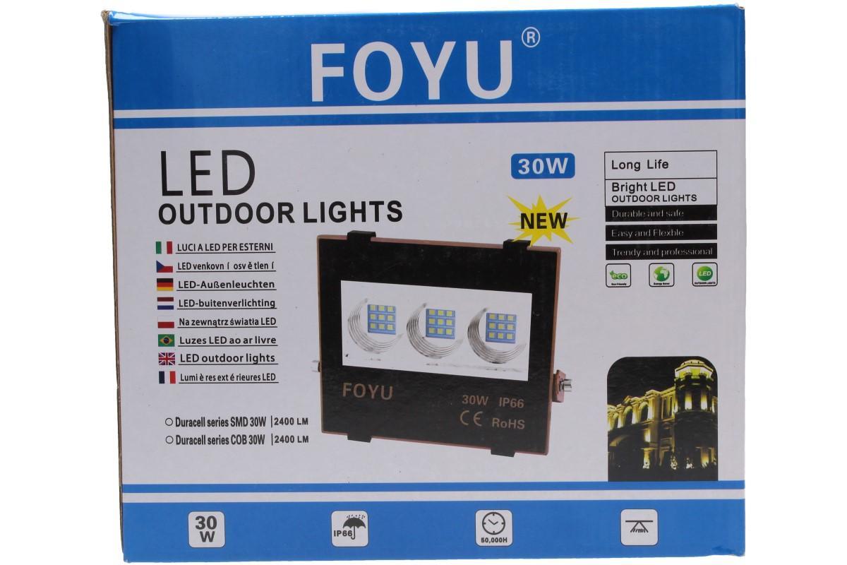 Foto 21 - LED super výkonný reflektor FOYU 30W plochý