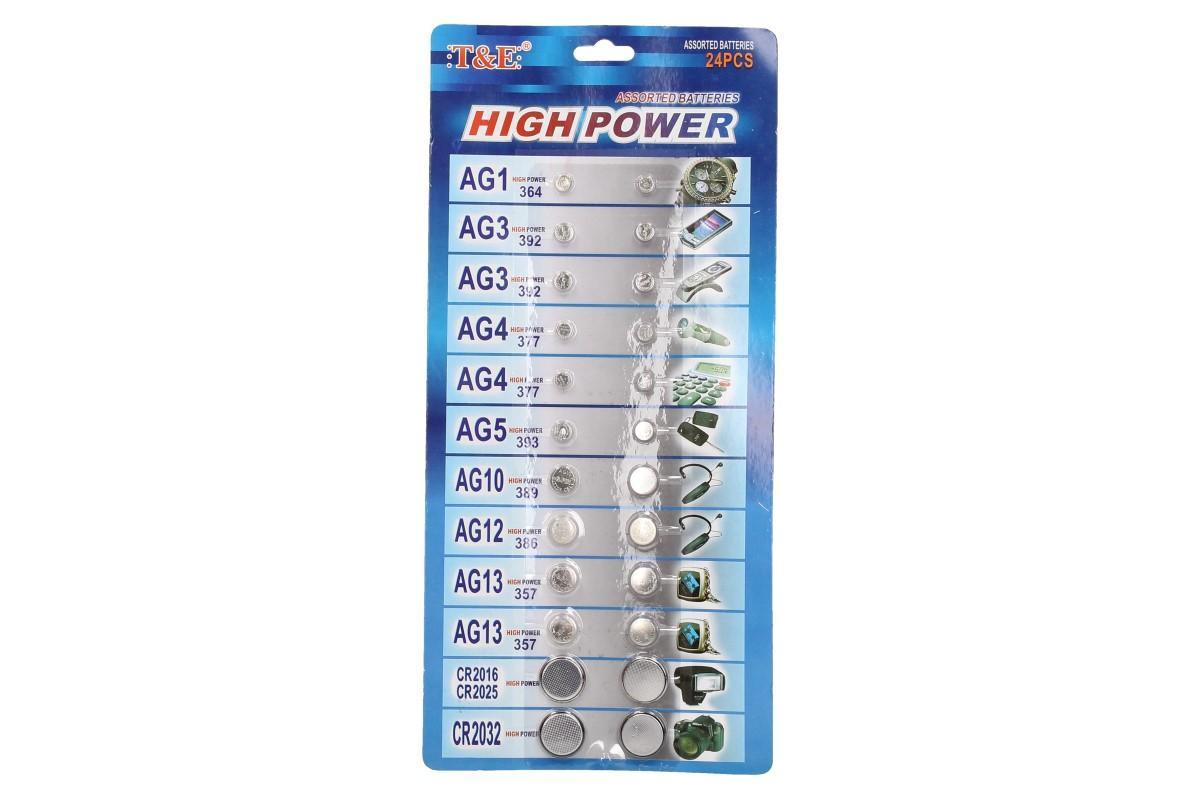 Foto 3 - Sada knoflíkových baterií 24 kusů T.E.