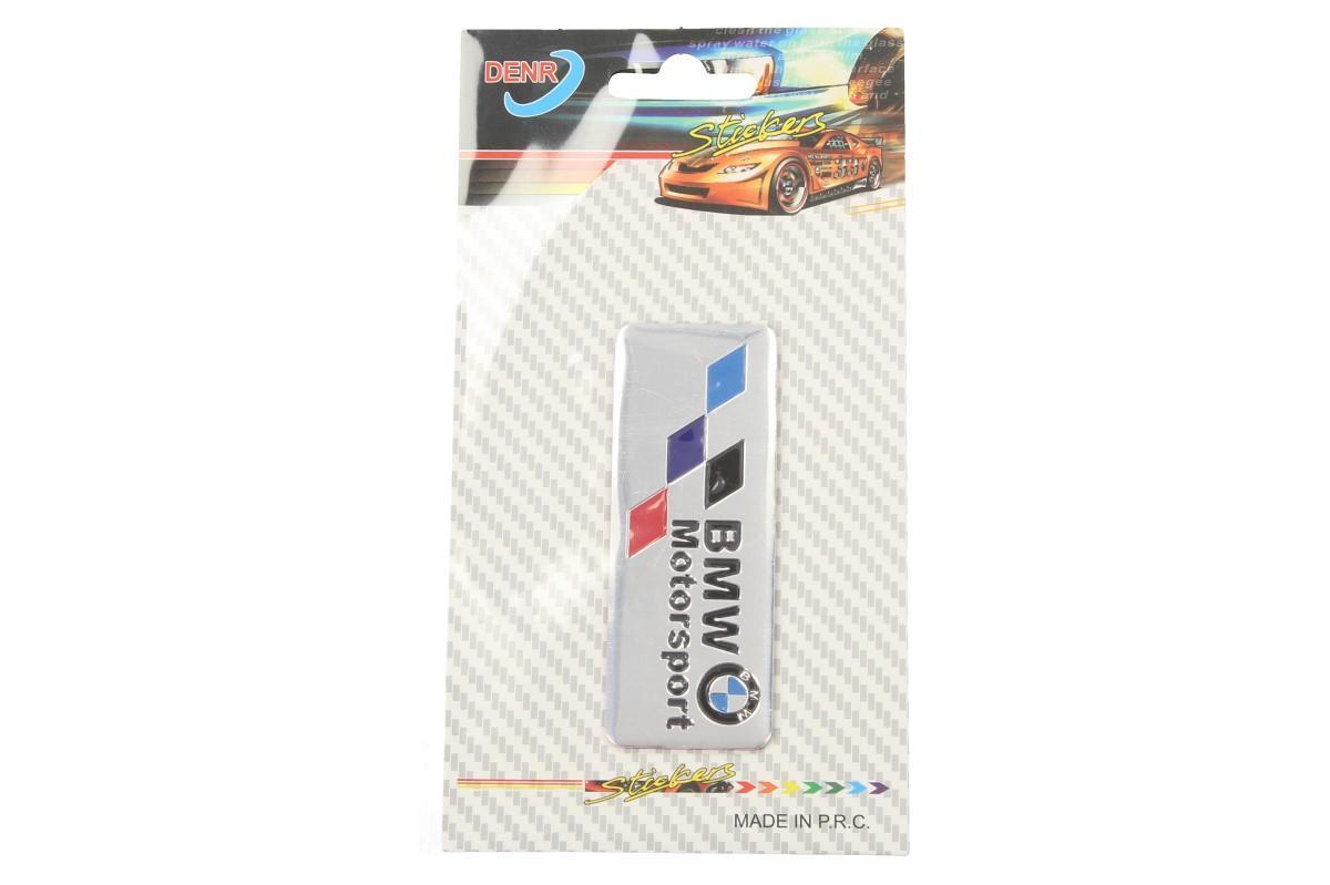 Foto 5 - Kovová samolepka BMW Motorsport stříbrná 8x3 cm